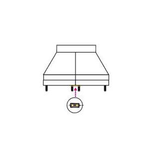 Epeda Lot de 2 plaques de liaison inox (pour relier deux sommiers)