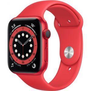 Apple Watch 44MM Alu Rouge/Rouge Series 6 Cellular - Montre connectée