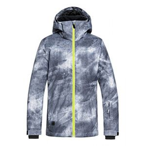 Quiksilver Mission Printed Youth Jk Grey Simple Texture
