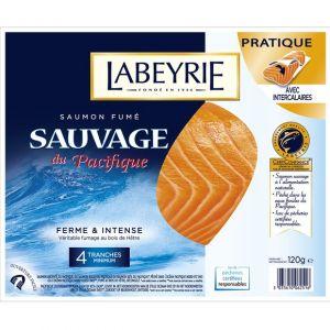 Labeyrie Saumon fumé sauvage - Les 4 tranches, 120g