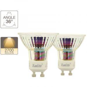 Xanlite PACK 2 AMPOULES LED SPOT 50W GU10 2700K