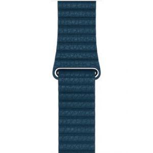 Apple 42mm Leather Loop - bracelet de montre bleu cosmos large