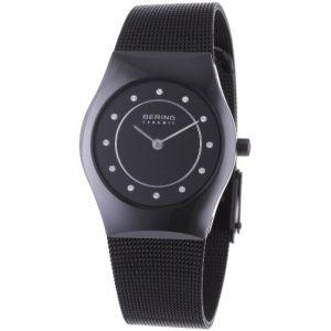 Bering Time 32030-446 - Montre femme Quartz Analogique Bracelet Acier Inoxydable Noir