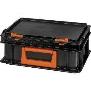 Alutec Bac en plastique 139205110188 (l x h x p) 300 x 133 x 200 mm noir, orange 1 pc(s)