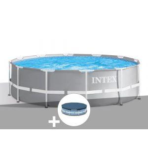 Intex Kit piscine tubulaire Prism Frame ronde 3,66 x 0,99 m + Bâche de protection