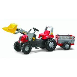 Rolly Toys Tracteur à pédales Rolly Junior RT avec remorque et pelle avant