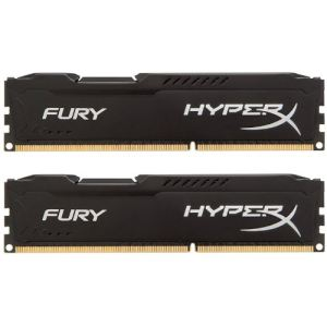 Image de Kingston HX318C10FK2/16 - Barrettes mémoire HyperX Fury 2 x 8 Go DDR3 1866 MHz CL10 DIMM 240 broches