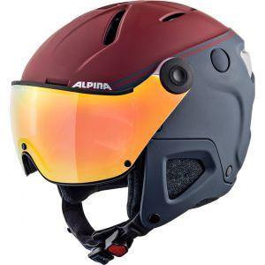 Alpina Attelas Visor QVMM Casque de ski Bleu/Rouge 53-58 cm