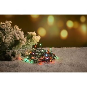 Christmas Dream Guirlande 300 micro-LED multicolore - L 30 m - 31 V - 8 jeux de lumière - Contrôleur de mémoire - Guirlande 300 micro-LED multicolore - L 30 m - 31 V - 8 jeux de lumière - Contrôleur de mémoire