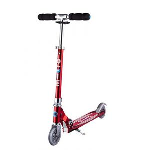 Micro Mobility - Trottinette Sprite Rouge - Trottinette Enfant compacte et Pliable - Apprentissage de l'équilibre - À partir de 6 Ans