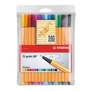 Stabilo Point 88 - 15 stylo-feutres en étui plastique