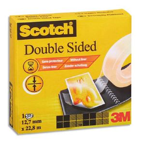 Scotch Ruban adhésif double face (12,7 mm x 32,9 m)