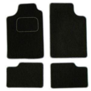 4 tapis voiture universels VOLGA noir ganse grise