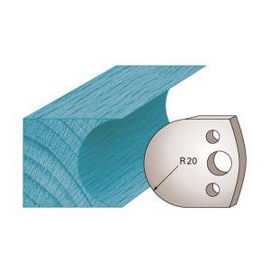Diamwood Platinum Jeu de 2 fers profilés Ht. 40 x 4 mm congé M131 pour porte-outils de toupie