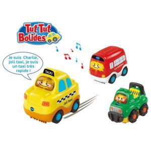 Vtech Tut Tut Bolides Coffret trio City : taxi, bus et 4x4