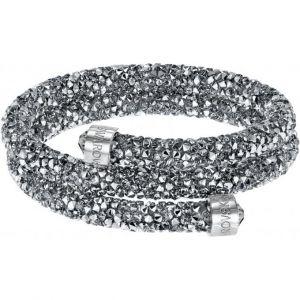 Swarovski Bracelet-jonc double gris
