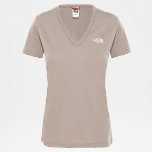 The North Face T-Shirt à Manches Courtes Simple Dome - Silt Grey Gris - Femme