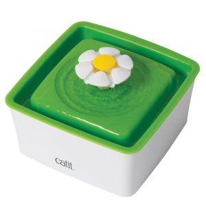 Catit Abreuvoit mini avec fleur - 1,5 L (50,7 oz liq.) - Blanc et vert - Pour chat