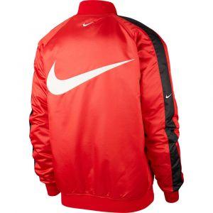 Nike Veste réversible Bomber Sportswear Swoosh Rouge - Taille S