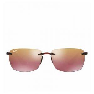 833125afc8e63f Ray-Ban Rb4255 chromance Homme Sunglasses Verres  Violet Polarisés, Monture   Marron -