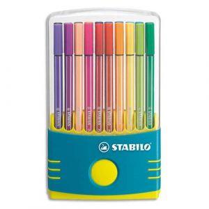 Stabilo Feutre dessin Pen 68 - Étui ColorParade Gris / Turquoise x 20 Feutres- Coloris Assortis