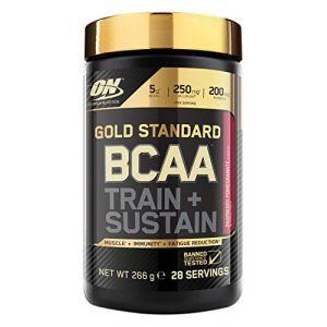 Optimum nutrition Gold Standard BCAA Train + Sustain - 266gr framboise-grenade