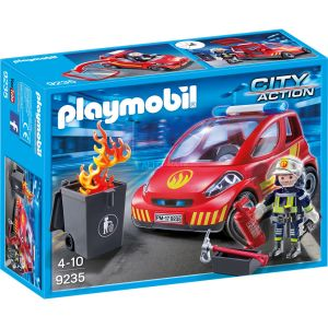 Image de Playmobil 9235 - City Action : Pompier avec véhicule