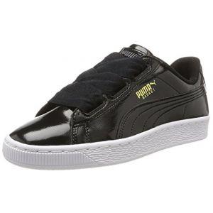Puma Basket Heart Glam Jr, Sneakers Basses Mixte Enfant, Noir (Black-Black), 38 EU