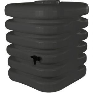 Belli Récupérateur d'eau de pluie Cubique 1000 L anthracite + Kit raccord chéneau JARDIN