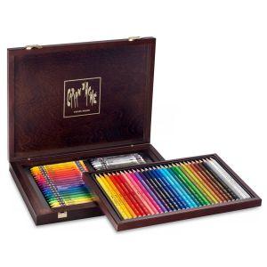 Caran d'Ache Coffret bois 30 Crayons Prismalo et 40 Neocolor II