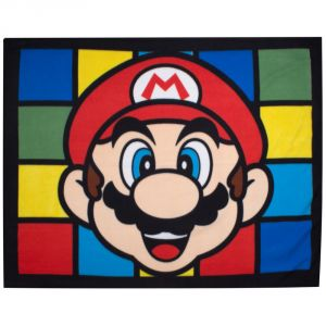 Character World Plaid polaire Super Mario Nintendo rétro (120 x 150 cm)