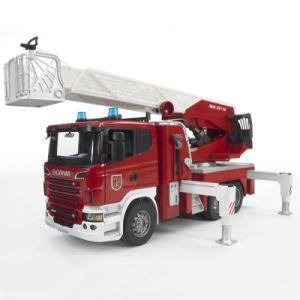 Bruder Toys Camion de pompier Scania avec échelle et pompe à eau