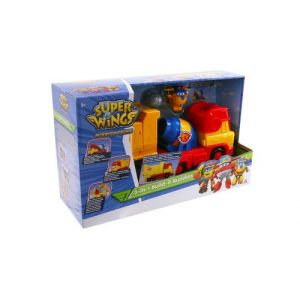 Auldey Playset Super Wings Camion de chantier Donnie's Built It Buddies modulable 3 en 1 + 1 Transform-a-Bot Donnie Construction