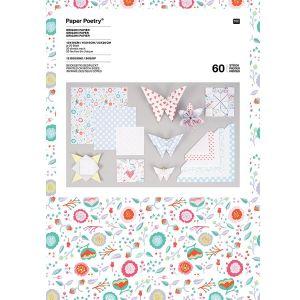 Rico Design Papier origami Romantic flowers - 3 tailles - 60 feuilles