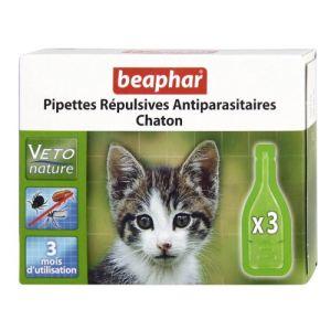 Beaphar Pipettes répulsives antiparasitaires pour chaton