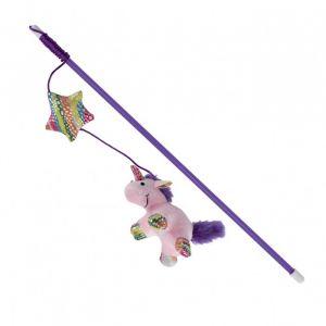 Trixie Canne à pêche avec serpent - Peluche - 45 cm - Pour chat