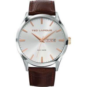 Ted Lapidus 5124204 - Montre pour homme avec bracelet en cuir