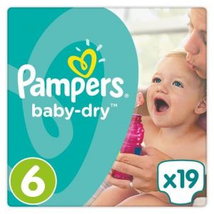 Pampers Baby-Dry taille 6 (15 kg +) - 19 couches
