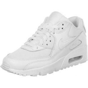 Nike Air Max 90 Mesh (GS), Chaussures de Running Garçon, Blanc (White/White 100), 36.5 EU