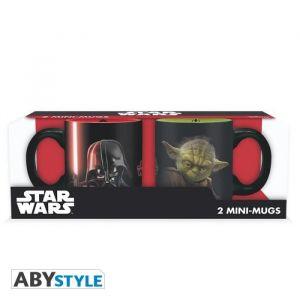 Abystyle Set de 2 mugs Star Wars - 2 mugs à espresso - 110 ml - Vador vs Yoda