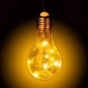 Relaxdays Ampoule décorative LED filament à suspendre fil sans câble vintage rétro ambiance, transparent