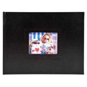 Exacompta 11320E - Album photos Softissimo 28,5x22 cm, 30p. blanches/60 photos, reliure livre noir