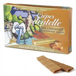 Biscuiterie de Pont Aven Crêpes dentelles au caramel beurre salé, Boîte 90 gr