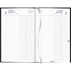 Brepols Agenda banque large 18x29cm 1 volume 2p/j f/c noir