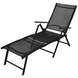 VidaXL Chaise longue pliable Aluminium 178 x 63,5 x 96 cm