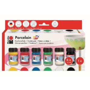 Marabu Peinture sur porcelaine : Kit de démarrage