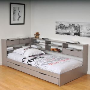 lit blade avec tag res sommier et tiroirs 90 x 190 cm. Black Bedroom Furniture Sets. Home Design Ideas