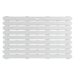 Wenko 22946100 Caillebotis de douche Blanc, Plastique, 80 x 50 cm