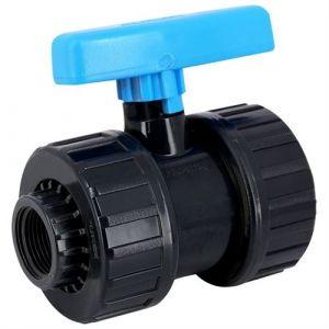 Vanne à boisseau PVC pression à visser FF 11/4 - Catégorie Vanne et robinet PVC