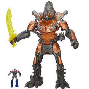 Hasbro Transformers 4 Grimlock - Figurine électronique 40 cm + Optimus Prime